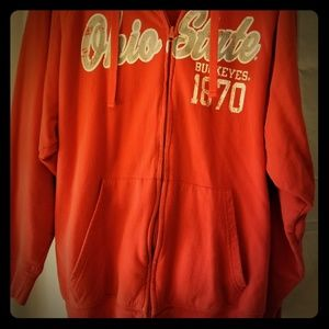 Ohio state zippered hoodie size XL Red and Gray